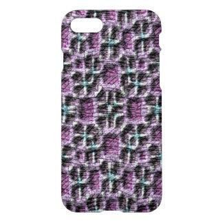 Sobre todo modelo abstracto púrpura funda para iPhone 7