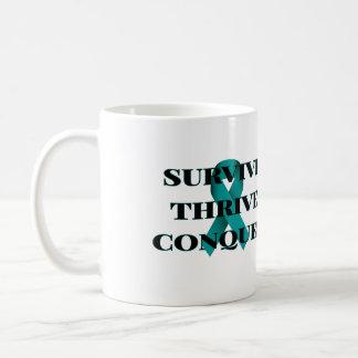 Sobreviva prosperan conquistan la taza de café