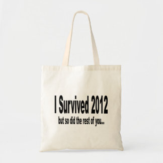 Sobreviví 2012 bolsos bolsas lienzo