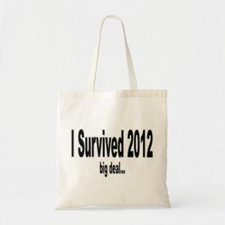 Sobreviví 2012 bolsos bolsa lienzo