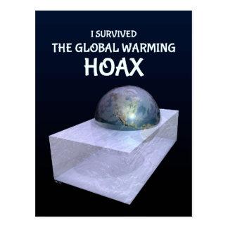 Sobreviví a la broma del calentamiento del planeta postal