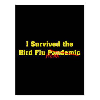 Sobreviví a la broma del pandémico de la gripe avi postal