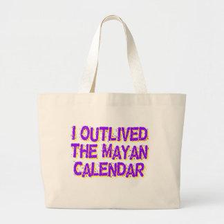 Sobreviví al calendario maya bolsa tela grande