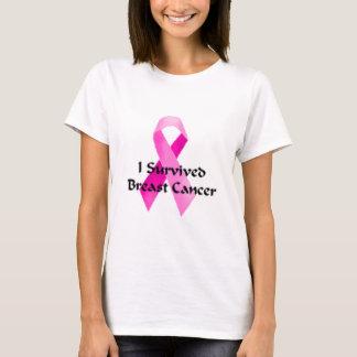 Sobreviví al cáncer de pecho camiseta