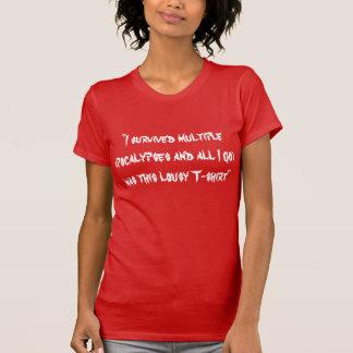 Sobreviví apocalipsis múltiples camisetas