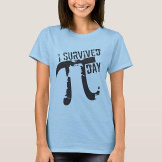 Sobreviví el día del pi - día divertido del pi camiseta