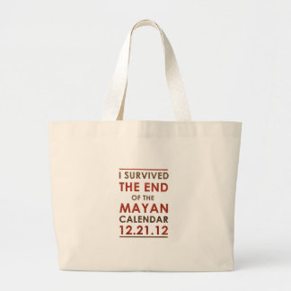 Sobreviví el extremo del calendario maya 12.21.12 bolsa tela grande