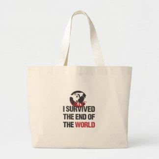 Sobreviví el extremo del mundo bolsa lienzo