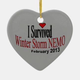 Sobreviví el ornamento de la tormenta 2013 del inv ornamento de navidad