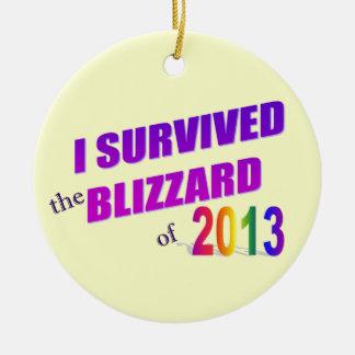 Sobreviví el ornamento de la ventisca 2013 ornato