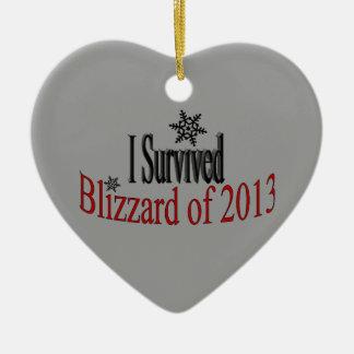 Sobreviví el ornamento de la ventisca 2013 adorno de navidad