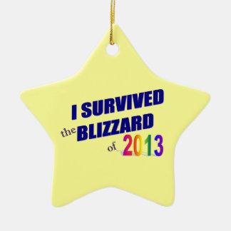 Sobreviví el ornamento de la ventisca 2013 ornamentos para reyes magos