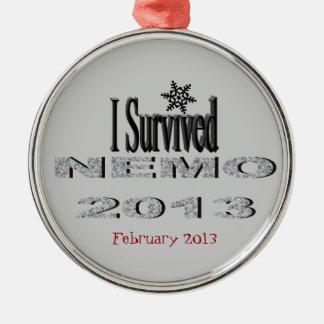 Sobreviví el ornamento de NEMO 2013 Adorno Navideño Redondo De Metal