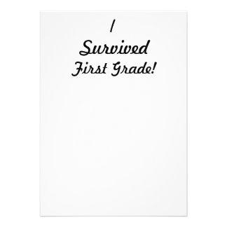¡Sobreviví el primer grado Comunicado Personalizado
