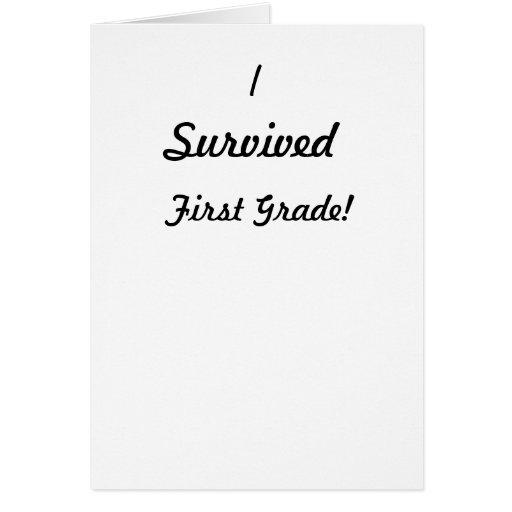 ¡Sobreviví el primer grado! Tarjetón