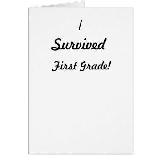 ¡Sobreviví el primer grado Tarjetón