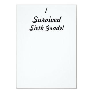 ¡Sobreviví el sexto grado! Invitación 12,7 X 17,8 Cm