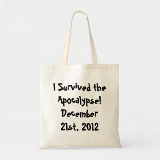 ¡Sobreviví la apocalipsis Bolsas Lienzo