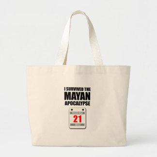 Sobreviví la apocalipsis maya 2012 (el calendario) bolsa tela grande