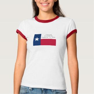 Sobreviví la camiseta de Ike del huracán