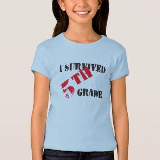 Sobreviví la camiseta ligera del 5to chica del