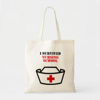 Sobreviví la escuela de enfermería bolso de tela