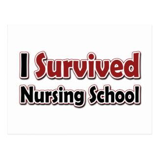 Sobreviví la escuela de enfermería tarjeta postal