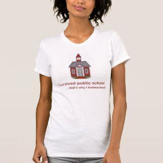 Sobreviví la escuela pública - camiseta de las