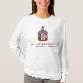Sobreviví la escuela pública - manga larga T de Camiseta