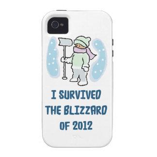 Sobreviví la ventisca de 2012 Case-Mate iPhone 4 carcasas