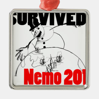 Sobreviví Nemo 2013 Adorno Cuadrado Plateado