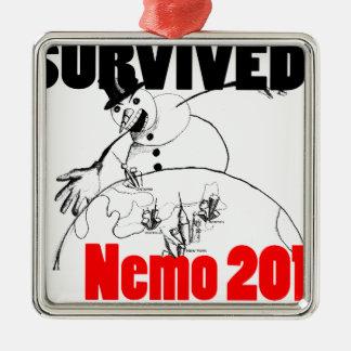 Sobreviví Nemo 2013 Adorno Navideño Cuadrado De Metal