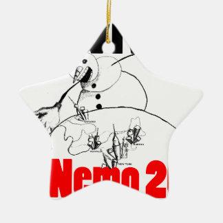 Sobreviví Nemo 2013 Adorno Navideño De Cerámica En Forma De Estrella