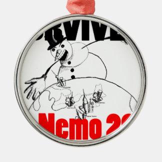 Sobreviví Nemo 2013 Adorno Redondo Plateado