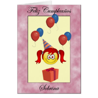 Sobrina de Feliz Cumpleaños Tarjeton