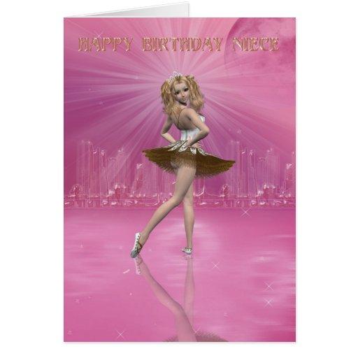 Sobrina de la tarjeta de cumpleaños, ballet del cu