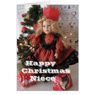 Sobrina de las felices Navidad Tarjeta