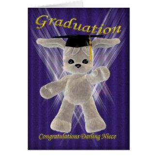 Sobrina del querido de la enhorabuena de la gradua tarjeta