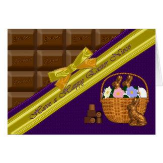 Sobrina feliz de Pascua, tarjeta del chocolate
