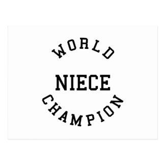 Sobrina fresca retra del campeón del mundo de los  postales
