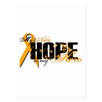 Sobrina mi héroe - esperanza de la leucemia postal