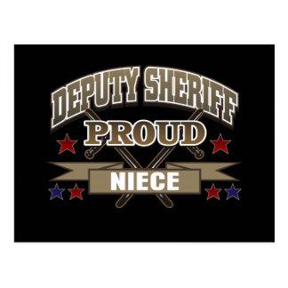 Sobrina orgullosa del ayudante del sheriff tarjetas postales