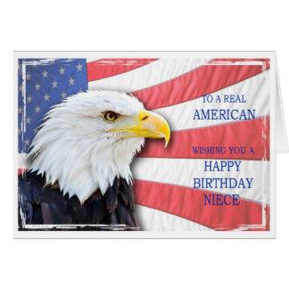 Sobrina, tarjeta de cumpleaños americana