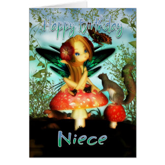 Sobrina, tarjeta de cumpleaños, pequeña hada linda
