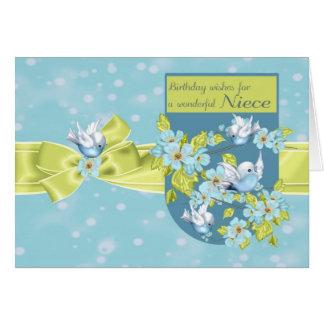 Sobrina, tarjeta de felicitación del cumpleaños co