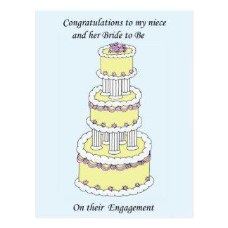 Sobrina y novia a ser enhorabuena del compromiso postal