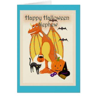 Sobrino del feliz Halloween Tarjeta De Felicitación