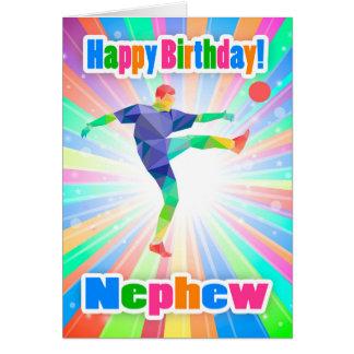 Sobrino, extracto colorido del cumpleaños del tarjeta de felicitación