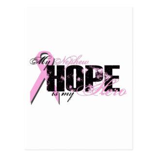 Sobrino mi héroe - esperanza del cáncer de pecho postal