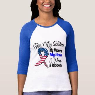Sobrino - mi soldado, mi cinta patriótica del camiseta